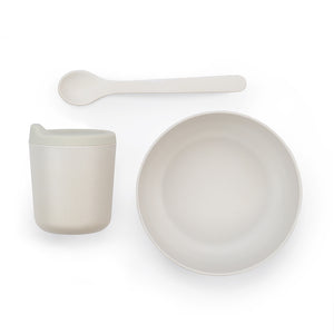 Bambino Baby Feeding Set - Cloud White - Smallkind