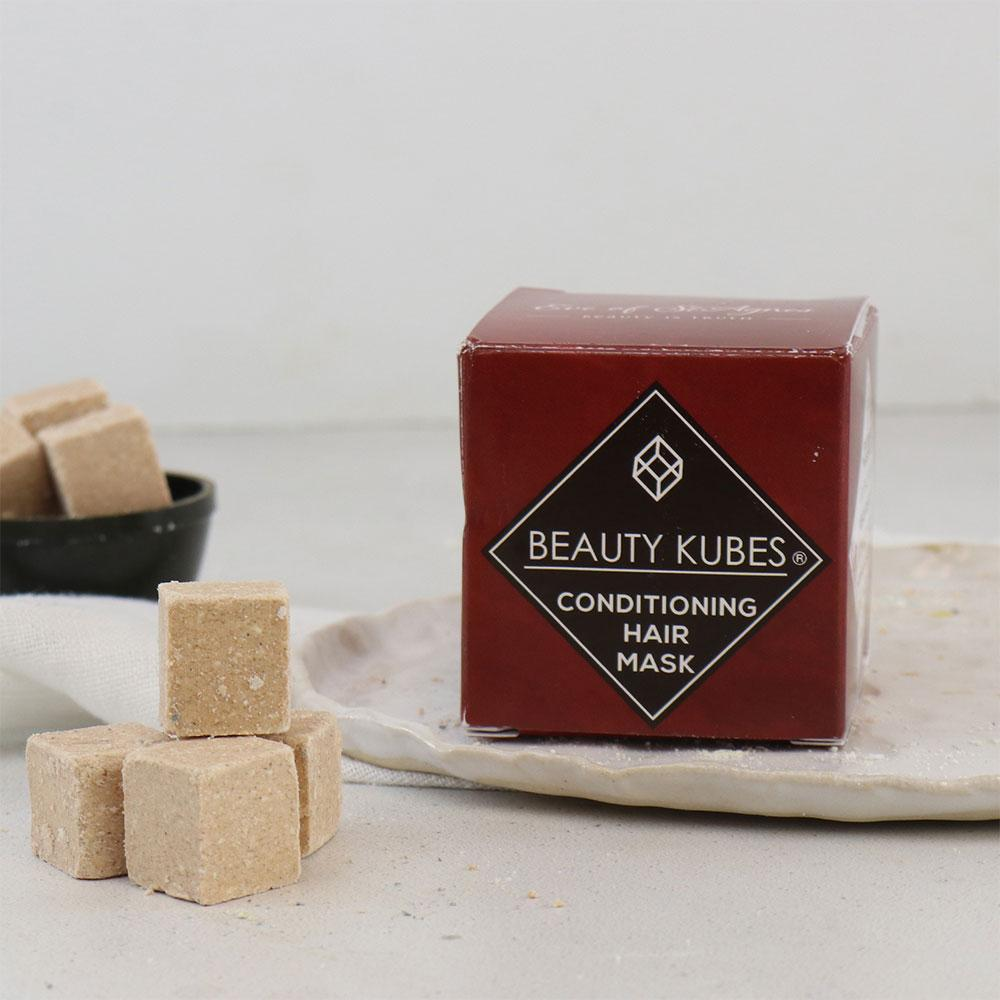 beauty cubes conditioning hair mask - plastic free vegan hair conditioner