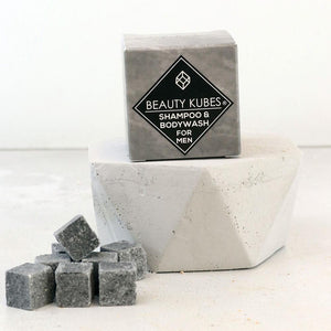 beauty kubes mens shampoo and body wash solid shampoo bars