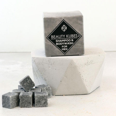 Beauty Kubes Solid Shampoo Cubes - Men's Shampoo + Bodywash - Smallkind