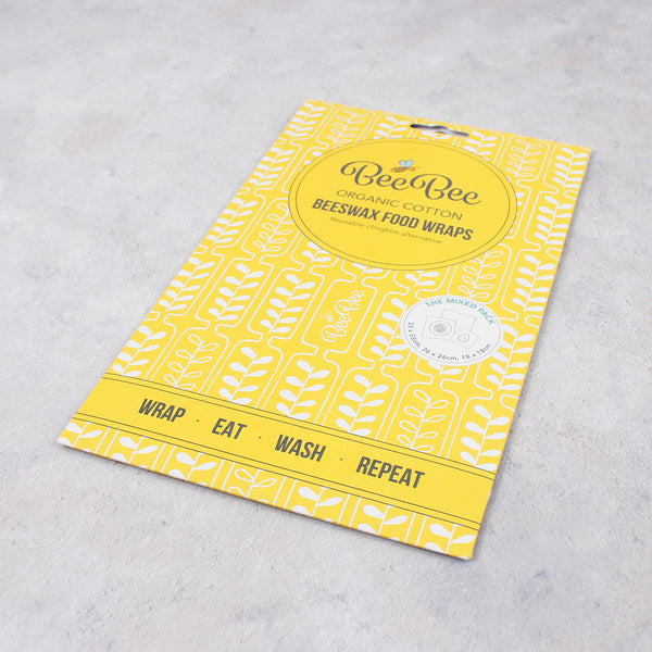 BeeBee Wax Wrap Kitchen Pack - Wheat - Smallkind