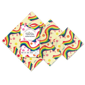 beebee wax wraps rainbow mixed pack