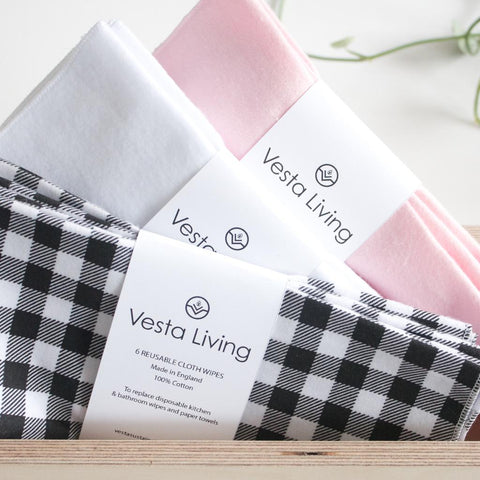 vesta living reusable cleaning wipes