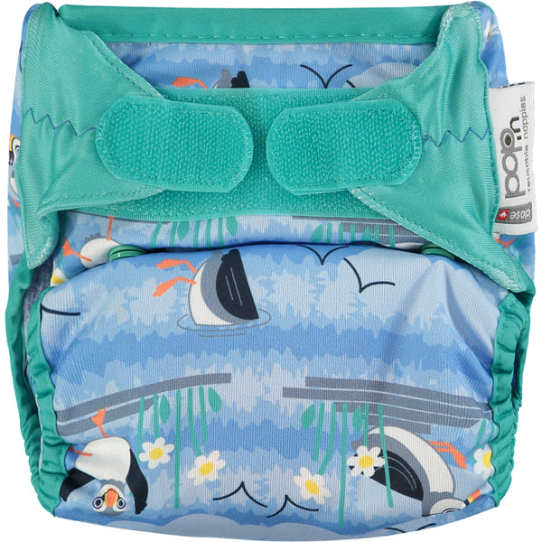 Close Pop In Blue Puffin Print Nappy - Smallkind