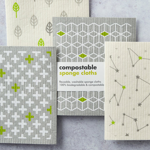 compostable and plastic free cleaning cloths