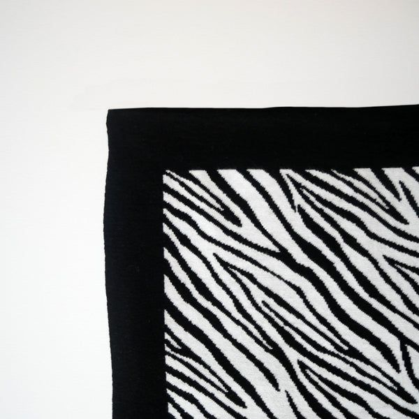 etta loves zebra knitted baby blanket