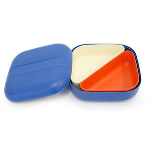 ekobo bamboo lunch box blue