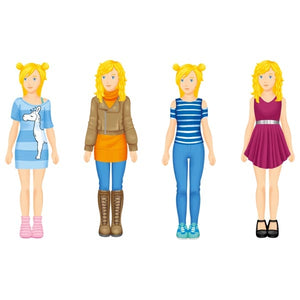 goki paper doll dress up craft set