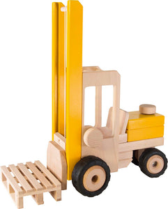 goki yellow wooden forklift truck