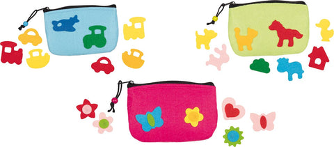 goki felt purses with decoration