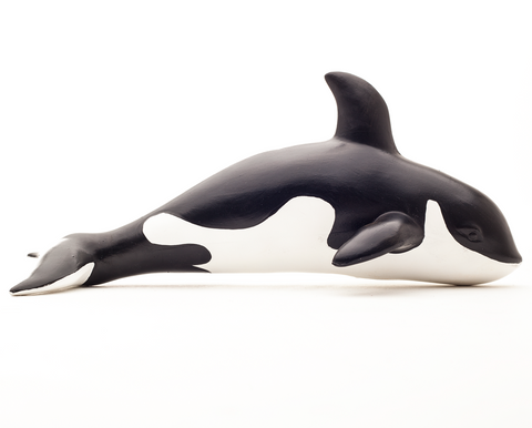 green rubber toys killer whale toy