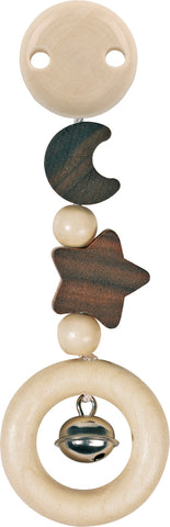 heimess nature wooden moon and star clip for babies