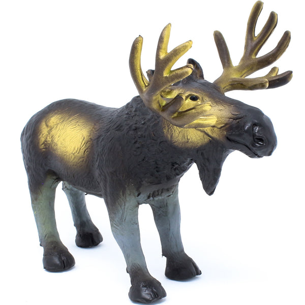 green rubber toys moose