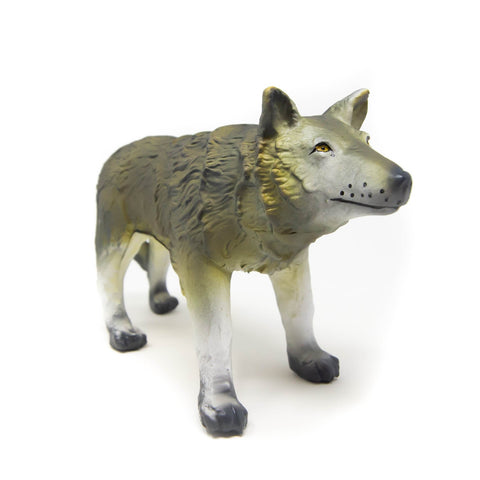 green rubber toys wolf
