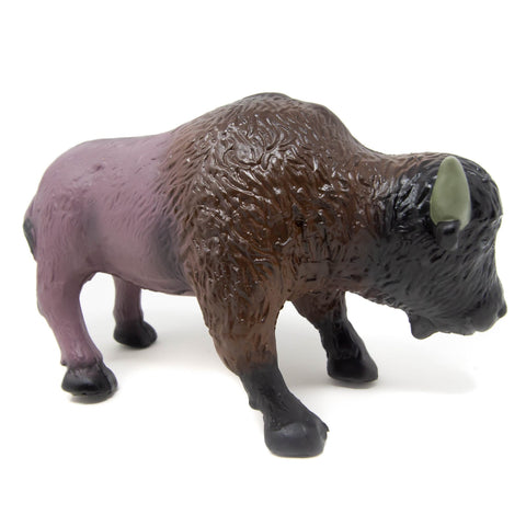 green rubber toys bison
