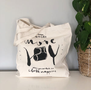 cloth nappy tote bag