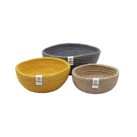 respiin jute mini bowls - beach