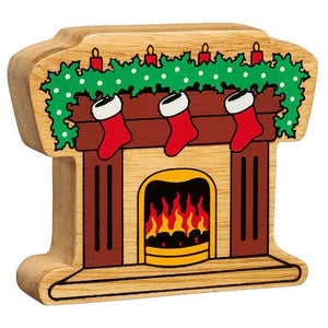 lanka kade wooden fireplace with stockings
