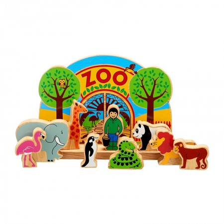 lanka kade junior zoo wooden play scene