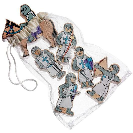 lanka kade wooden knights blue - bag of six