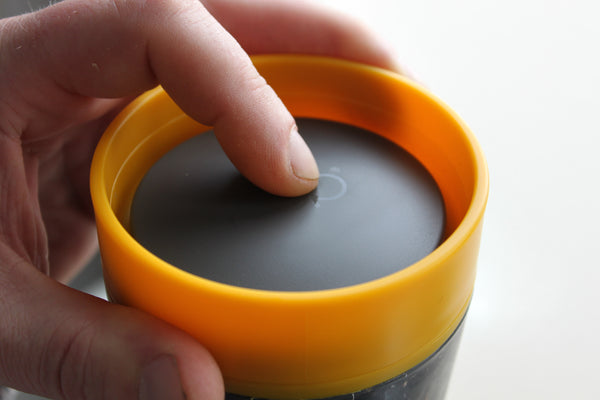 non spill and leak proof lid of cup eco coffee cup