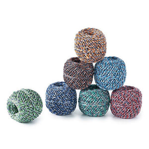 recycled colourful twine