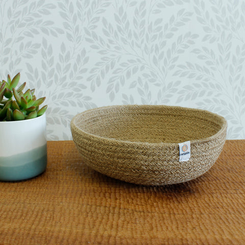 respiin medium natural jute bowl