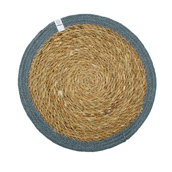 respiin jute table mat grey