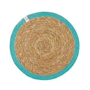 respiin jute tablemat turquoise