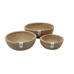 Jute Mini Bowl Set - Natural - Smallkind