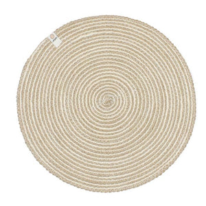 Respiin Spiral Jute Table Mat - White