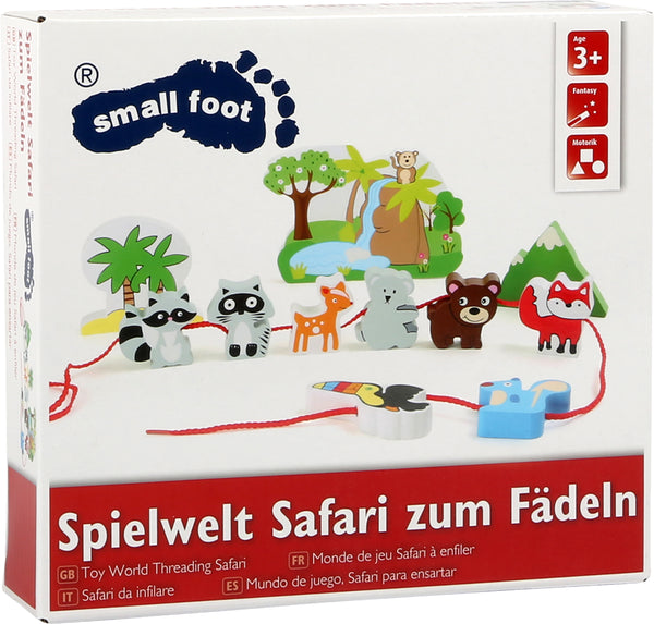 Small Foot Safari Threading Set in box