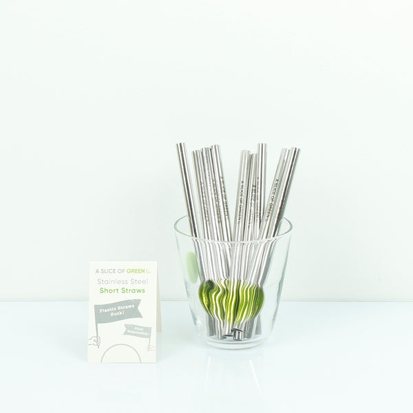 Stainless steel short straws for kids and adults