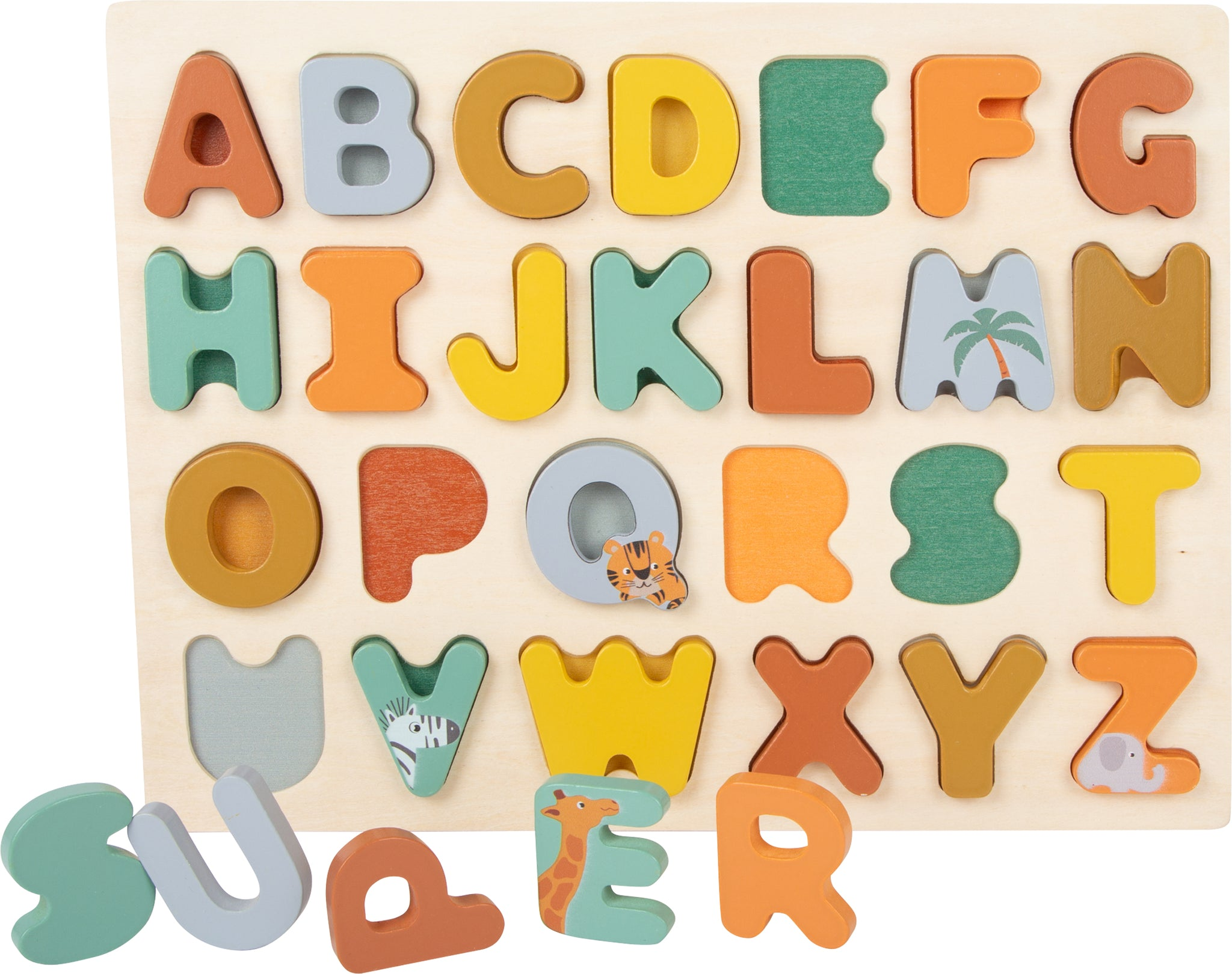 Small Foot Wooden Alphabet Puzzle - Safari