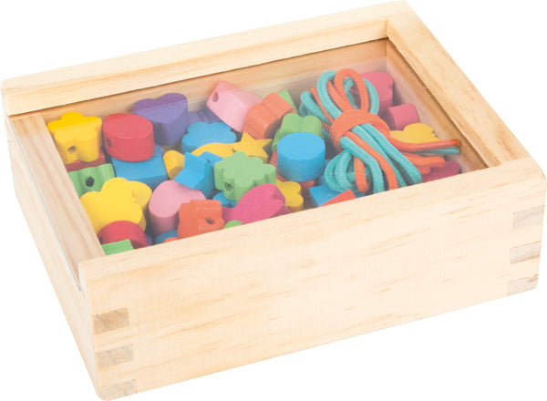 Small Foot Creative Threads Beading Set in wooden box