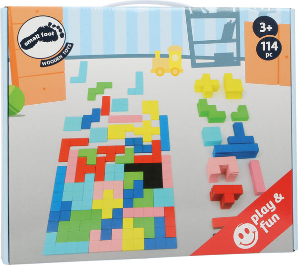 Small Foot Wooden Tetris Puzzle in box