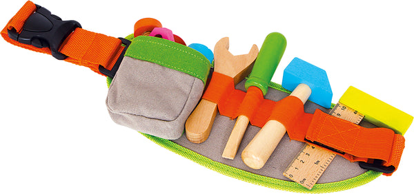 Small Foot Tool Belt with Wooden Tools