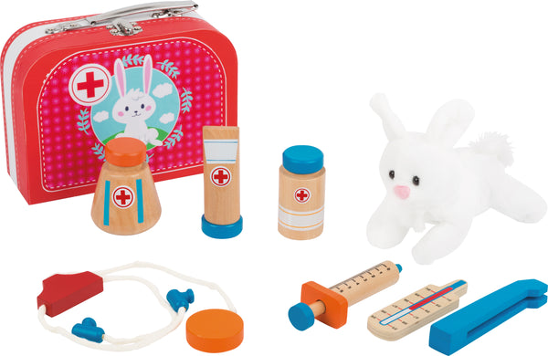 Small Foot Vets Case Play Set with rabbit