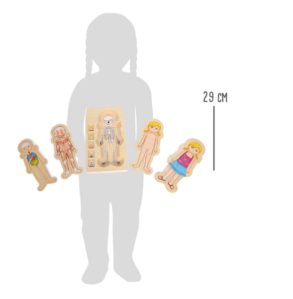Small Foot Wooden Anatomy Puzzle - Girl