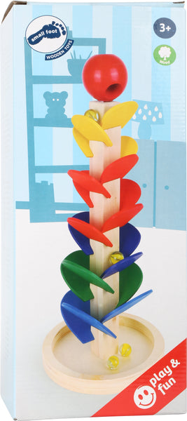 Small Foot colourful wooden Marble Run tower in box