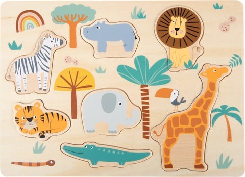 Small Foot Wooden Animal Puzzle - Safari