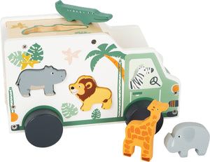 Small Foot Wooden Shape Sorting Car - Safari