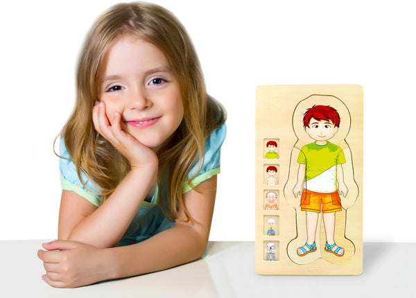 Small Foot Wooden Anatomy Puzzle - Boy