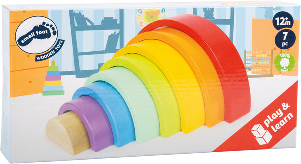 Small Foot Rainbow Building Blocks - Large in box