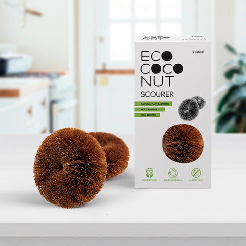 eco coconut twin pack of scourers
