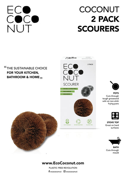 instructions for eco coconut scourers