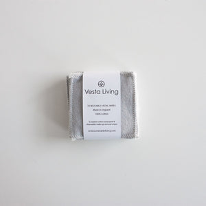 Reusable Face Wipes - Pack of 10 - Smallkind