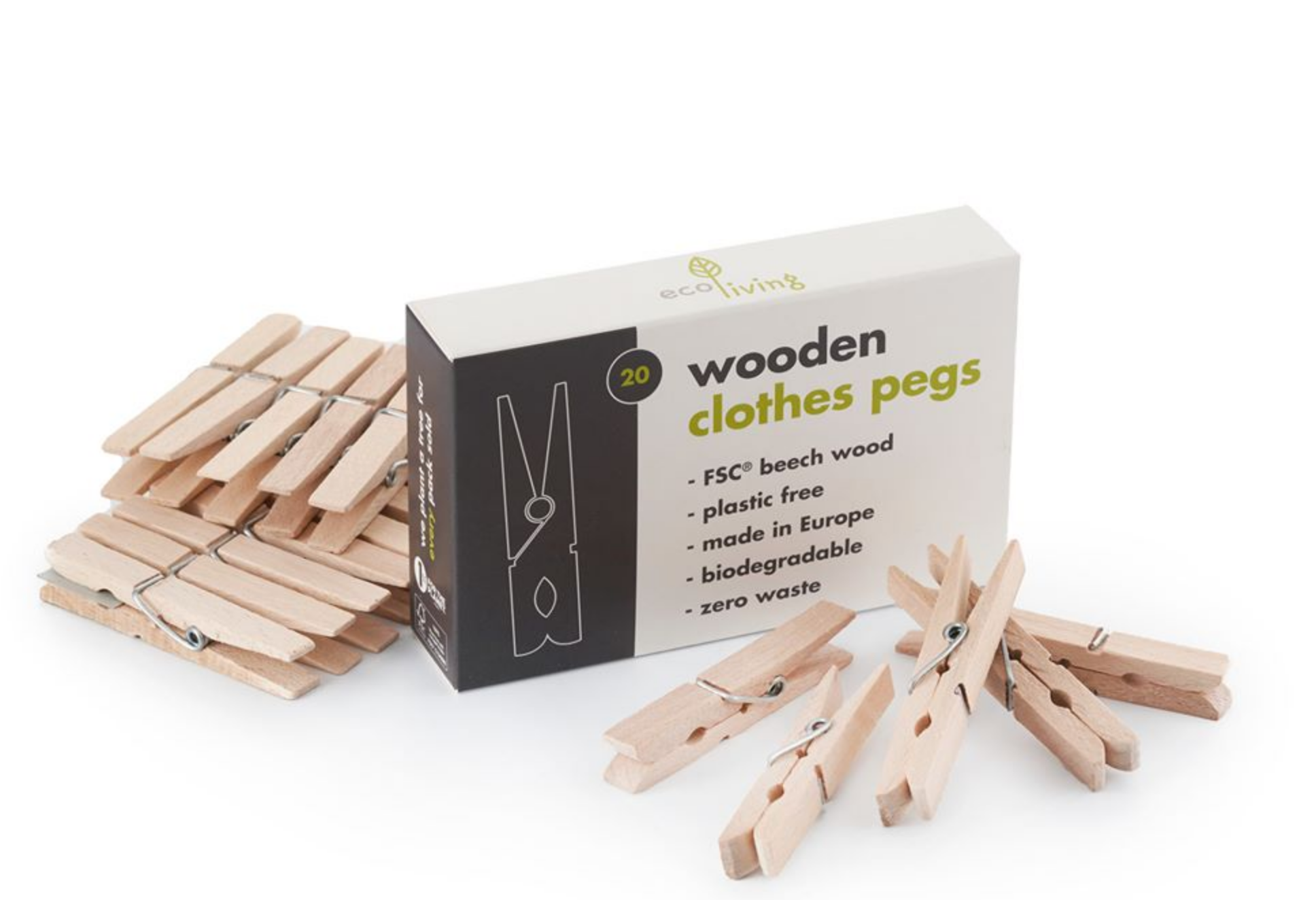 Wooden Clothes Pegs - Smallkind