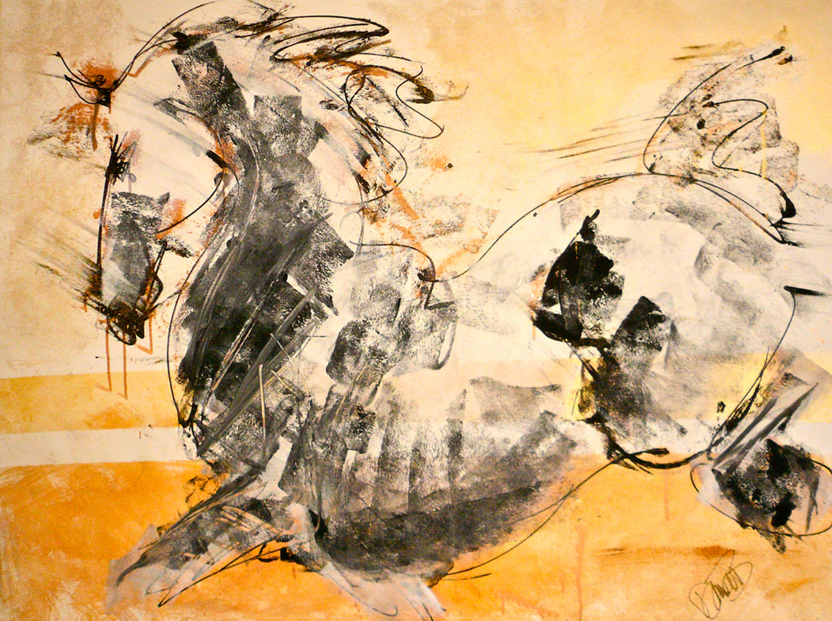 Contemporary Artist Donna B to Donate Modern Equine Art Experience at Celebrity Fight Night in Phoenix