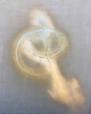 abstract, gold painting, inspirational, angel painting, modern angels, linen, swirling art, angels arm, gold paint, spray paint, unique modern angel painting, aspirational art, art on linen